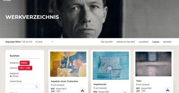 Digitales Künstler-Archiv und Online Werkverzeichnis